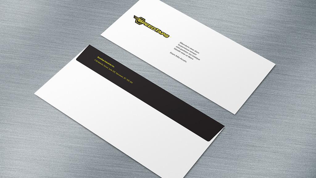 speedtaps stationery envelope